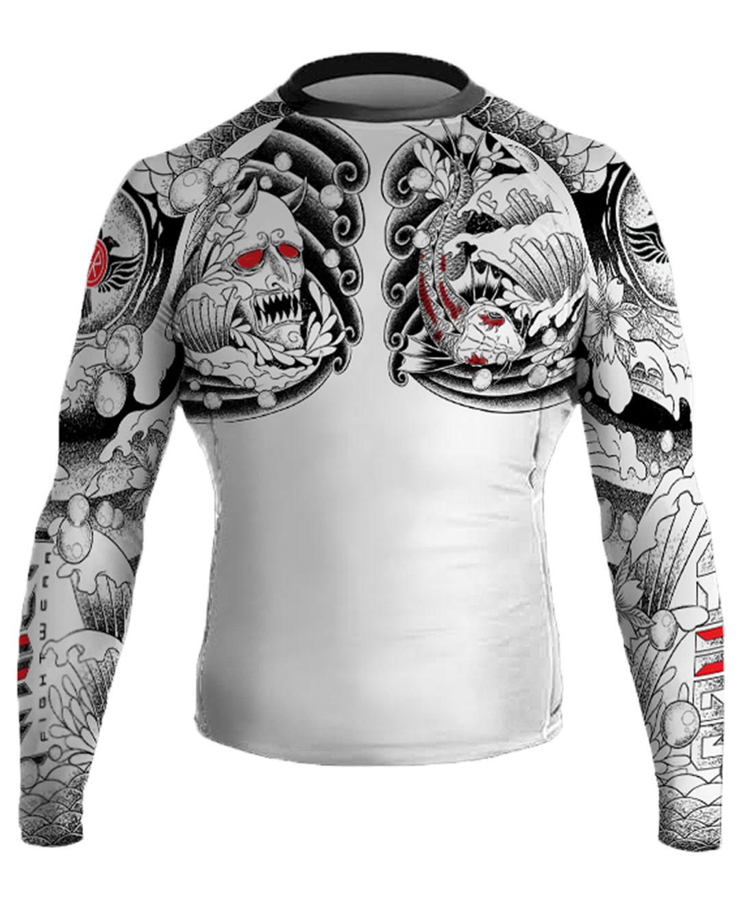 Raven Fightwear Men/'s Huitzilopochtli Aztec Rash Guard MMA BJJ Black