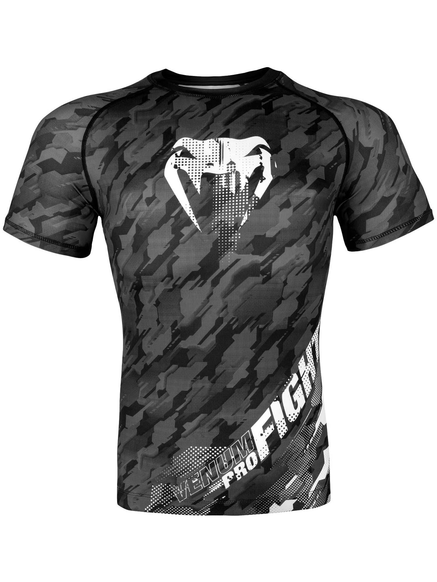 Venum Tecmo MMA Rash Guard BJJ Long Sleeve Mens Grey Compression Top