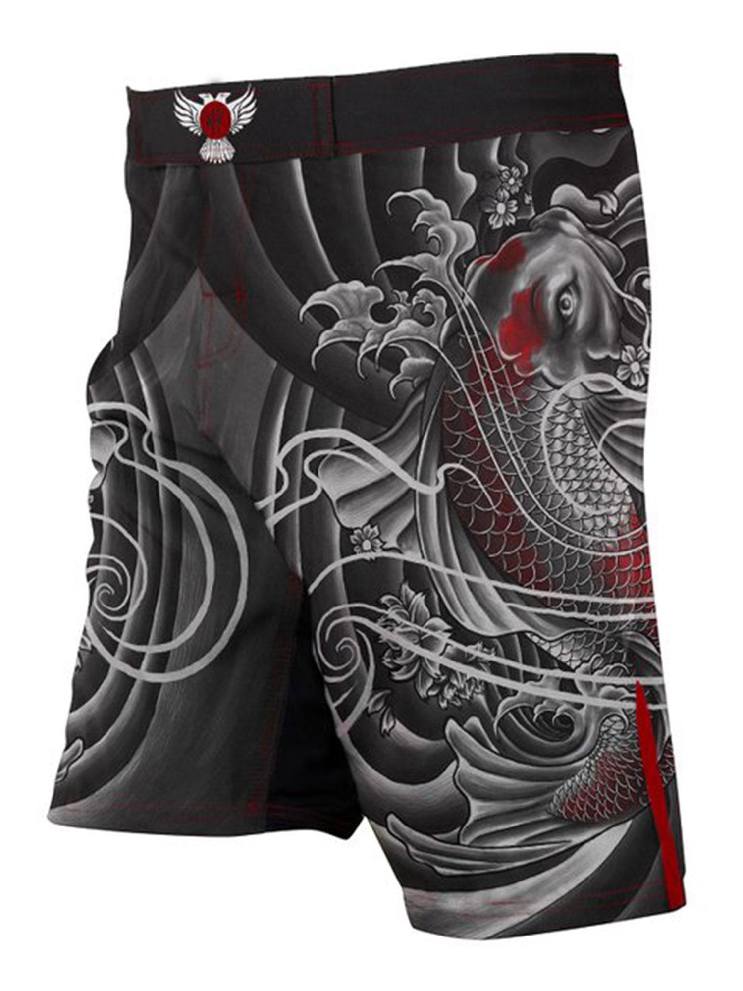 Raven Fightwear Men/'s BJJ Horror Cthulhu Shorts MMA Black
