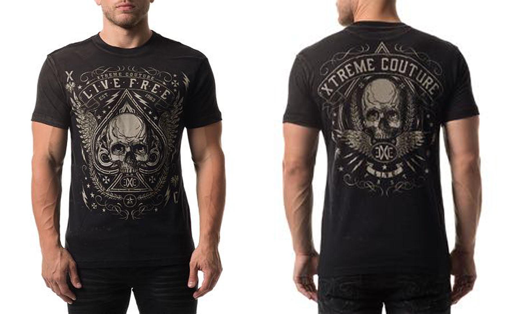 0708ff34be Xtreme Couture Men s Deuces Wild Tee Shirt Black