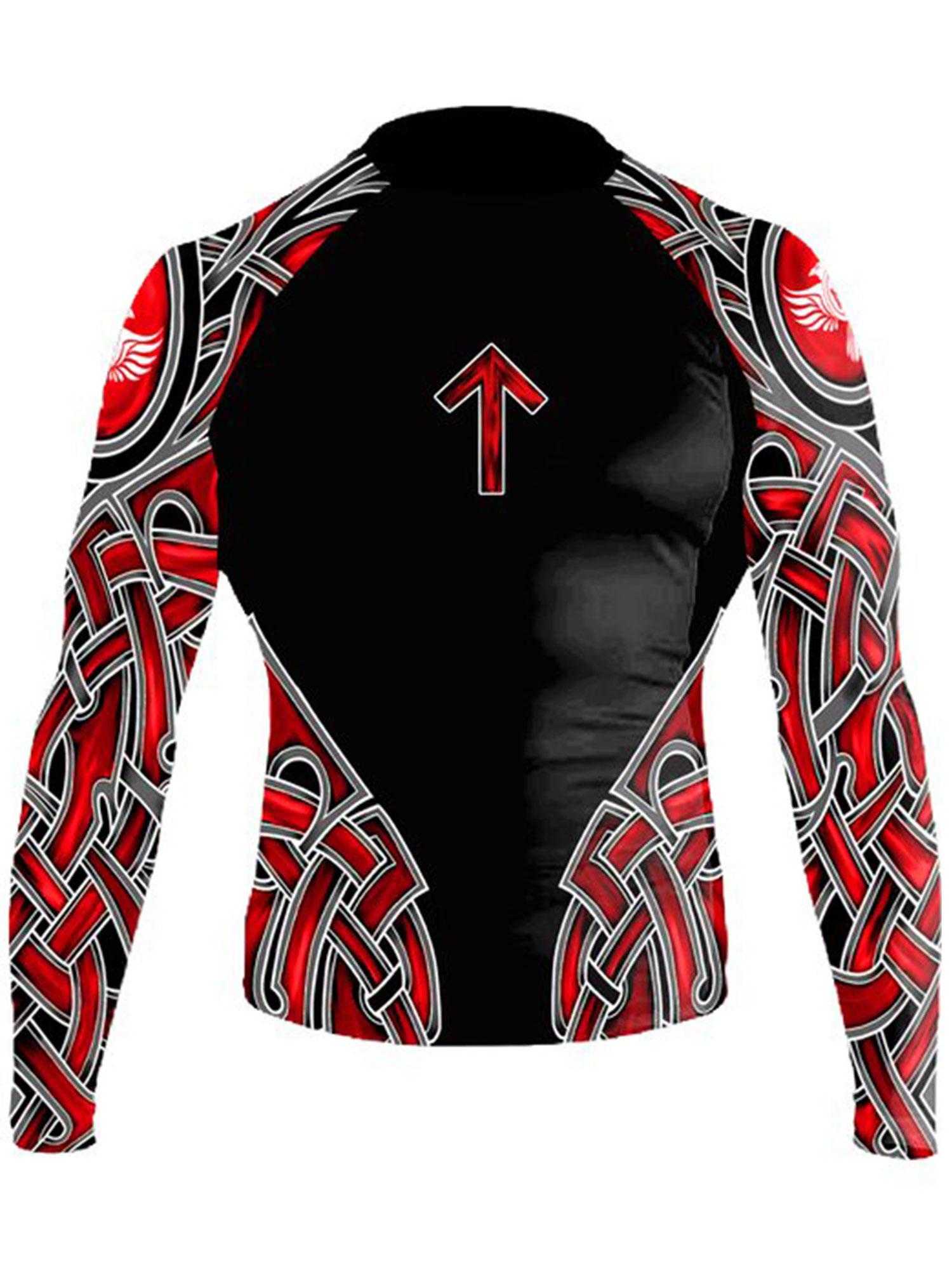 Raven Fightwear Men/'s Ulfhedinn MMA BJJ Rash Guard Black