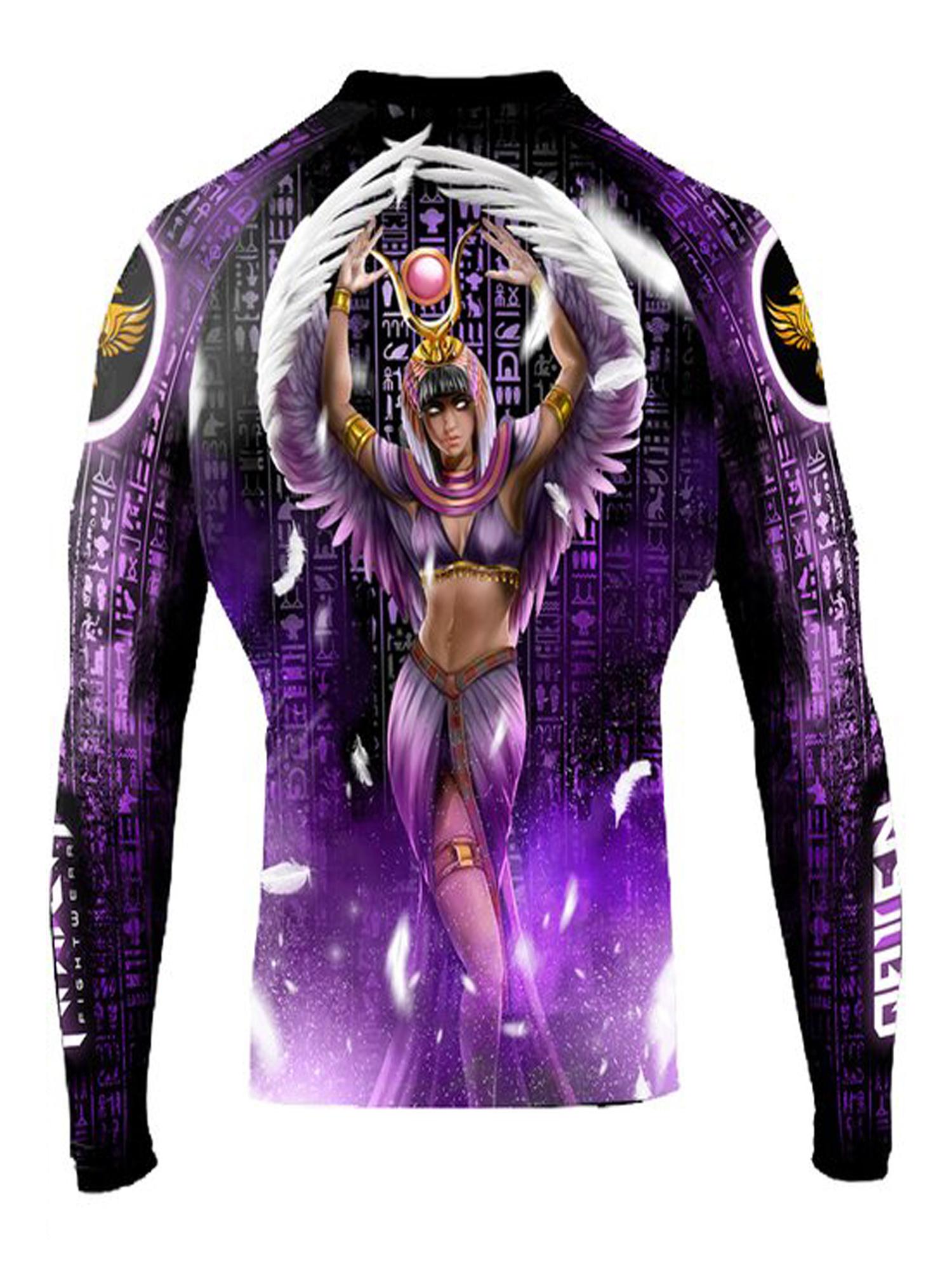 Raven Fightwear Men/'s BJJ Horror Medusa Rash Guard Black